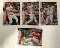 MIKE TROUT 2020 Topps Update Series (4) Card Lot