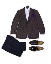 BOGLIOLI Navy Blue Striped Classic Fit Flat Front Pants Size US 42/ EU 52, 32X32