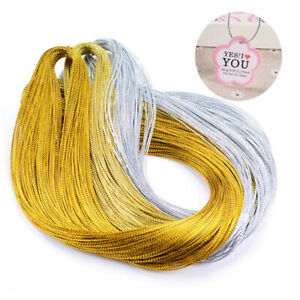 100m Rope Gold Silver Cord Gift Packaging String Metallic Jewelry Thread Cor_CI