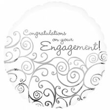 CONGRATULATIONS ON YOUR ENGAGEMENT set of 2 foil balloons #18019