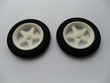 R C Plane wheels 65 mm x 10 mm [Fits Many]