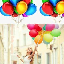 90 X Jumbo Multi Coloured Metallic Xmas Brithday Party Celebration 23cm Balloons