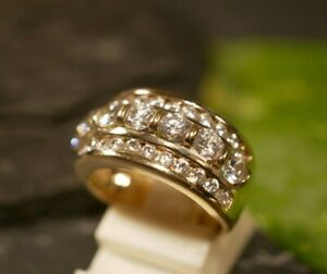Wunderbarer 925 Sterling Silber Ring Zirkonia Vergoldet DQCZ Weiblich