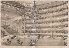 1866 Teatro alla Scala di Milano xilografia da Emporio pittoresco
