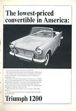 1966 Triumph 1200 2-Door Convertible PRINT AD