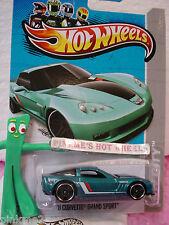 Case Q 2013 Hot Wheels '11 CORVETTE GRAND SPORT #24 US∞Teal Green∞Night Burnerz