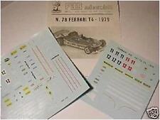 FERRARI T4 F1 1979 VILLENEUVE- SCHECKTER DECALS 1/43