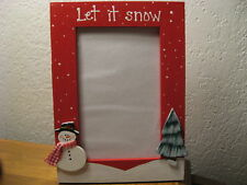 LET IT SNOW - Christmas holiday photo picture frame