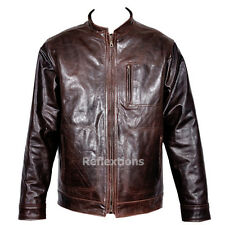 Big Men Leather Jacket Crunch Stylish Fashionable Cowhide Fashion Leather Jacket