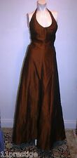A.B.S BY ALLEN SCHWARTZ FORMAL EVENING DRESS BROWN LONG/MAXI SIZE 2