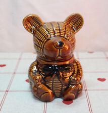 Unknown Vintage Unmarked Teddy Bear Jam/Honey Pot Treacle Glaze VGC Super Cute!