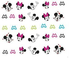 Nail Art Decals Transfers Stickers Mickey & Minnie Mouse (A-382)