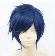 New Men Vocaloid Kaito short Straight blue cosplay ANIME Wig G66