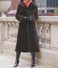 Women's outerwear Winter Chruch party Cold faux fur long coat jacket plus 2X 3X