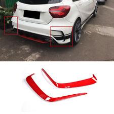 Für Mercedes W176 A250 Rot Heckstoßstange Splitter Canard Lippe Flossen Flaps