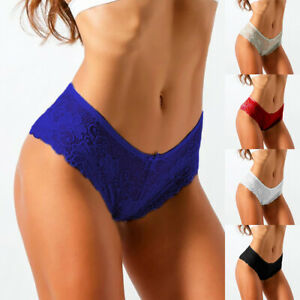 4Pcs Womens Sexy Lace Knickers Briefs Panties Shorts Ladies Seamless Underwear
