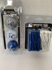 "Team Golf MLB Kansas City Royals Logo Imprinted Golf Balls ( 3 ) & 2-3/4"" Tees"