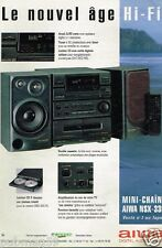 Publicité advertising 1992 Chaine Hi-Fi Aiwa