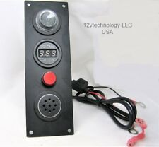 Low Battery Voltage Monitor 12V Bank Detector Discharge Voltmeter Alarm w/ Mute