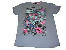 H & M tolles T-Shirt Gr. 146 / 152 blau mit genialem Druckmotiv !!