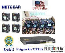 Set of 4x Quiet replacement fans for Netgear GS724TPS only 13~18dBA noise each