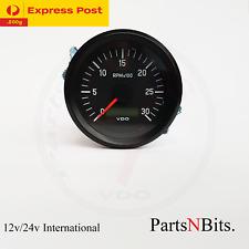 VDO INTERNATIONAL TACHOURMETER 12/24V 85mm 3000 RPM 333035025 tachour-tacho