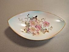 Vintage Bavaria Schumann Arzberg  China  ~ Oval Candy / Nut Bowl  ~  Wild Rose ~