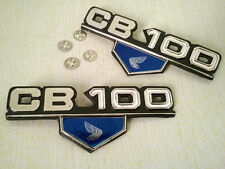 Pair Honda Sport CB 100 CB100 K3 K4 Emblem Badge Side Frame Cover + 4 Mount Clip