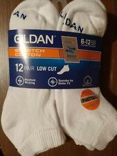 New listing Gildan Men's Stretch Cotton 12-Pair Low Cut Socks -  6-12 Shoe Size (NEW)