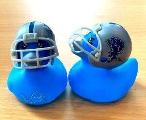 Detroit Lions Football 2'' Rubber Ducks in Helmet - 2 Pack