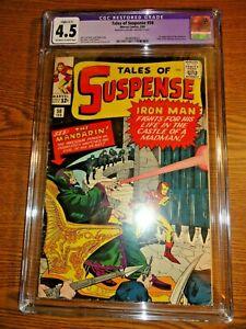 Tales of Suspense #50 Hot Key CGC 4.5 R 1st Mandarin Iron Man Shang Chi Marvel