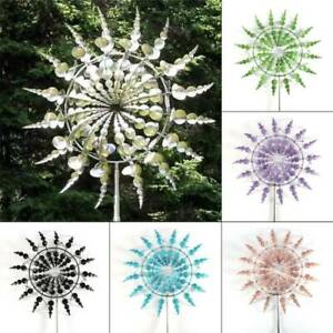 Fashion Unique and Magical Metal Windmill Garden Decor Outdoor Lawn Wind Spinner