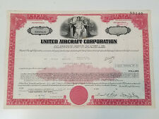 Vtg United Aircraft Corporation Subordinated Debenture Debt Certificate Aviation