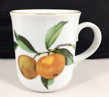 New listing Royal Worcester Evesham Gold Mug Round Handle Fruit Porcelain England Retired!