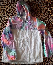 NWOT Authentic - Victoria Secret PINK Anorak Pastel Print Hoodie Xs/S fits loose