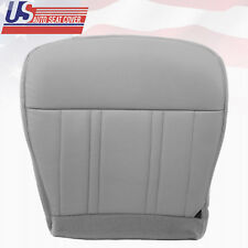 """1997 Ford F150 Lariat Driver Bottom Leather Seat Cover """"Medium Graphite Gray"""""""