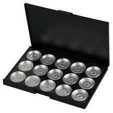 15 PCS Empty Eyeshadow Aluminum Pans with Palette