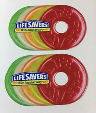 2 Lifesavers Candy 85th Anniver. Limited Edition Roll Shaped Phone Cards (7171)