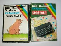 2 Sinclair ZX Spectrum COMPUTER SCRABBLE and learn to read 3 Cassette