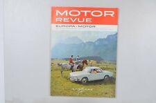 Motor Revue Europa Motor Ausgabe 46 Sommerausgabe 1963