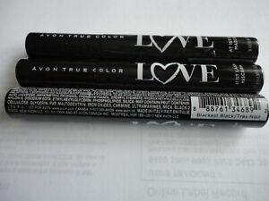 Lot of 3 AVON True Color Mascara LOVE at 1st. LASH BLACKEST BLACK NEW & SEALED