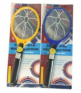 2x Mal Elektrische Fliegenklatsche, Mückenklatsche insektevernichter + Batterien
