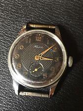 Montre Vintage KAMA Cccp 1958 Black Mécanique Ne Fonctionne Pas À Réviser