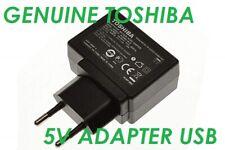 CARICABATTERIA ORIGINALE ALIMENTATORE AC ADAPTER USB TOSHIBA AT200 AT270 AT300