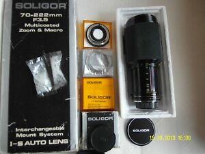 Soligor 70-222mm f3.5 PENTAX -K  interchangeable mount system I-S AUTO LENS +EXT