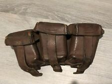 Imperial german 1915 dated unot marked leather cartridge pouch