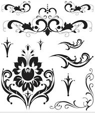 Recollections Clear Stamps - Formal Esque Flourishes Damask Wedding Invitations