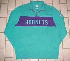 Charlotte Hornets 2016 Nba Hardwood Classics Teal Sample Pullover Fleece L New