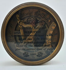 "Unidecor Vintage Nautical 3"" Dolland London Brass glass lid Sundial"