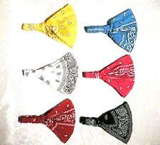 Lot of  6  Women Multi-function Head Scarf Bandana Elastic Headband Wrap Paisley